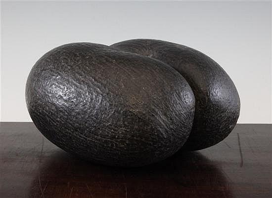 An unworked coco-de-mer nut, 11.5ins