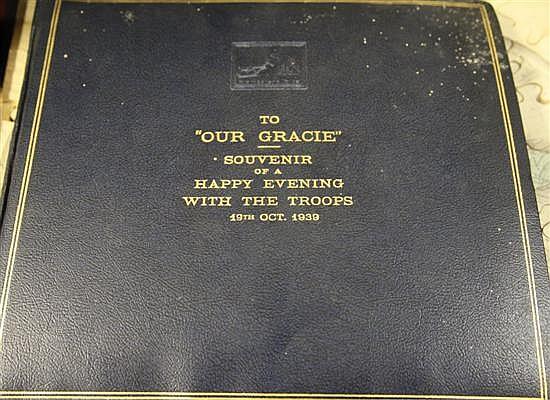GRACIE FIELDS: 'A presentation album of eight HMV acetates