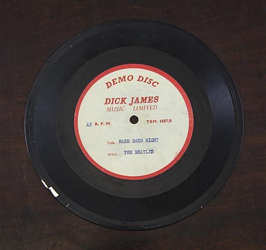 The Beatles: Hard Days Night Dick James demo disc acetate,