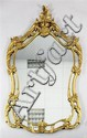 A mid 18th century style cartouche shaped mirror, 4ft 6.75in. x 2ft 10.5in.