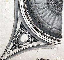 Pio Panfili (1723-1812) Architectural studies, largest 12.5 x 9.75in.