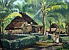 Ernst Vollbehr (1886-1961) Village in the Phillipines, 18.75 x 25in., Ernst Vollbehr, Click for value