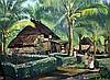 Ernst Vollbehr (1886-1961) Village in the Phillipines, 18.75 x 25in., Ernst Vollbehr, Click for value
