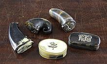 A 19th century Scottish horn snuff mull,
