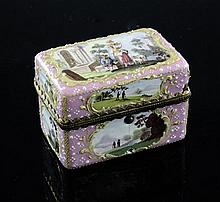 An 18th century South Staffordshire enamel travelling ink set, 2.75in.