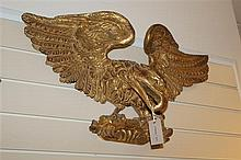 A Victorian carved giltwood wall appliqué, 29in.