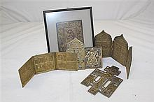 A collection of Russian religious icons and plaques,