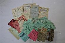 Railway Interest: A collection of railway and underground tickets,