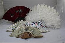 A 19th century French carved ivory fan,
