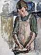 Vanessa Bell (1879-1961) Study for 'Grace in the kitchen' 18 x 15in.