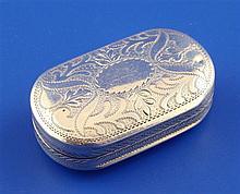 A George III silver vinaigrette, 1.5in.