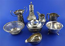 8 assorted items of silver.