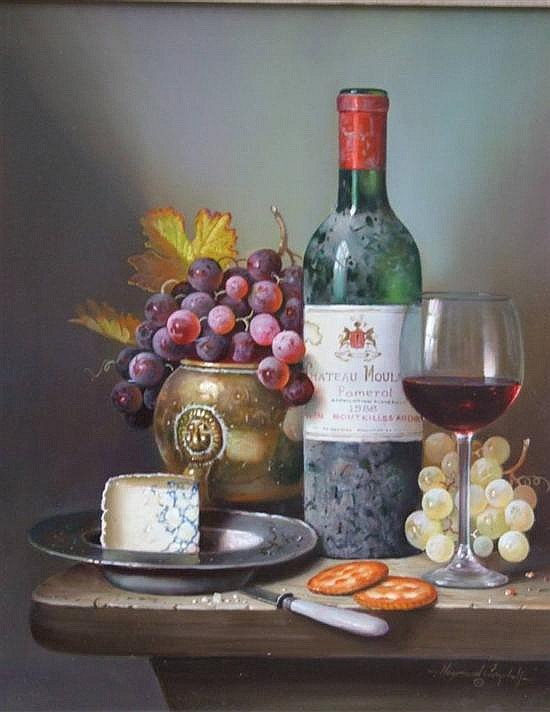†Raymond Campbell (20th C.) 'Chateau Moulinet 1988' 19.5 x 15.5in.