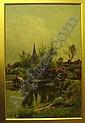 Arthur W. Redgate (fl. 1880-1906) oil on canvas, Bradmore, near Nottingham, signed, 18 x 12 ins., Arthur William Redgate, Click for value