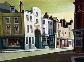 Clifford Charman (1910-1993) 'Early light on Neyada Street', 10.5 x 14.25in.