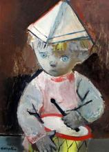 § Raymond Kanelba (1897-1960) Drummer boy 15.5 x 11.5in.