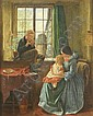 Charles Rossiter (1827-1890) Interior with mother and children 20 x 16in., Charles Rossiter, Click for value