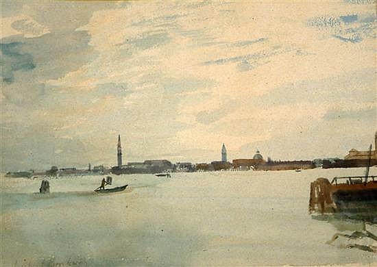 Michael Brockway (1919-) Venice from Murano 10.5 x 15in.