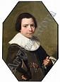 Johannes Cornelisz Verspronck (1597-1662) Dutch Half-length portrait of a young boy 18.5 x 13in., Jan Cornelisz Verspronck, Click for value