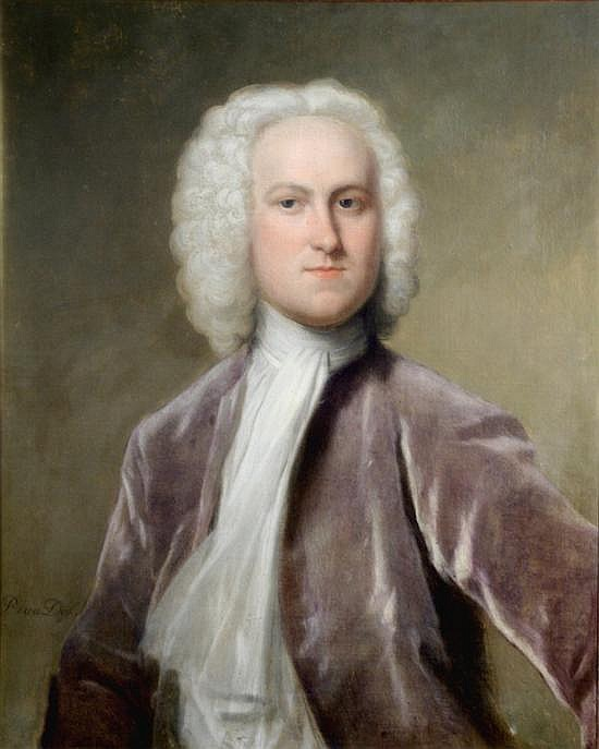 Attributed to Philip van Dyk (1680-1753) Flemish Portrait of a gentleman 29 x 23in.