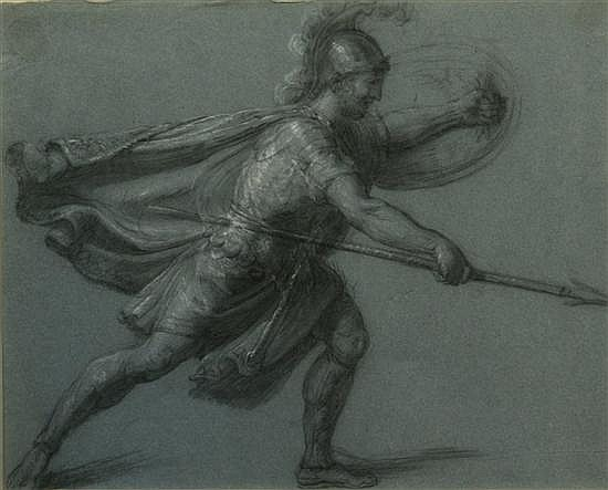 *James Barry (1741-1806) Irish Studies of gladiators 14.5 x 19in and 15.5 x 19in (standing)