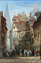 Attributed to Lewis John Wood (1813-1901) French street scene 9.5 x 7in., Lewis John Wood, Click for value