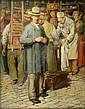 Gaston Hochard (1863-1913) French Market Scene 30.5 x 25in., Gaston Hochard, Click for value