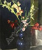 Colin Colahan (1897-1987) Australian Gladioli in a blue vase 24 x 20in., Colin Colahan, Click for value