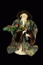 A Limited Edition Green Robe Santa Claus Decorative Doll (Large)
