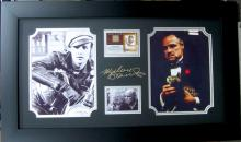 Engraved Marlo Brando Signature With Real Swatch of Clothing