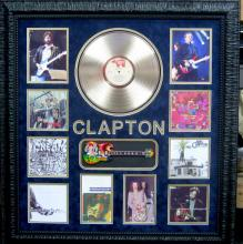 Authentic Eric Clapton Signature With Gold Album