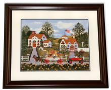 Wooster Scott- Framed Lithograph-Signature ''Road Rage''