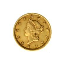 *1854 $1 U.S. Liberty Head Gold Coin - Great Investment - (JG PS)