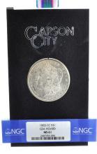 Rare 1883-CC $1 GSA Hoard MS 61 Graded Coin
