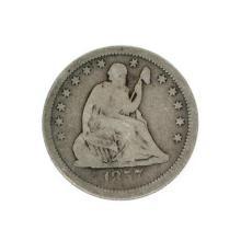 Rare 1857 Liberty Seated Quarter Dollar Coin