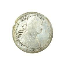 1807 Eigth Reales American First Silver Dollar Coin