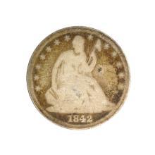 1842 Liberty Seated Half Dollar Coin