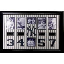 Yankee Legends 3,4,5,7 Engraved