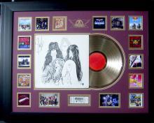 Aerosmith Album Collage With Album