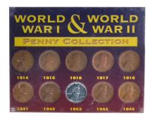 Wordl War I And Wordl War II Penny Collection Coin Set