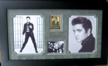 Engraved Elvis Presley Signature With Real Swatch of Clothing