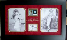 Engraved Marilyn Monroe Signature With Real Swatch of Clothing