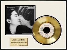 JOHN LENNON ''Just Like Starting Over'' Gold Record