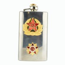 Rare Engraved CCCP Vodka Flask With Lenin Bust on Top