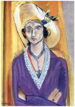 Henri Matisse ''''131 Mlle L.L. The Yellow Hat'''' 18 x 24 Paper Image