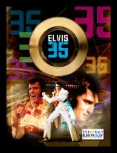 ELVIS PRESLEY ''35th Anniversary Commemorating The King'' Gold 45RPM