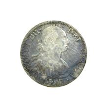 1797 Extremely Rare Eight Reales American First Silver Dollar Coin