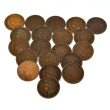 (20) US Indian Head Pennies-Various Years Coin