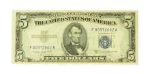$5 U.S. Silver Certificate