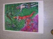 Rare Marc Chagall's Art Piece ''''Le Cirque Verte'''' Size 24 x 24, Out Of 2000 Plate Signature